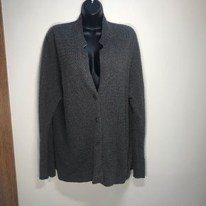 EILEEN FISHER Textured Buttoned Cardigan, Size XL